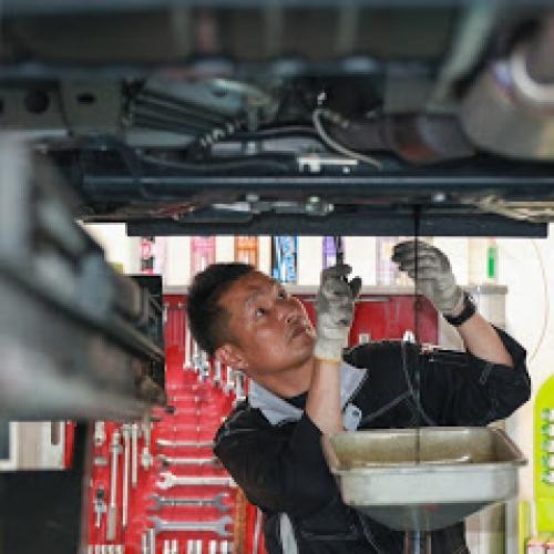 ガソリンスタンド1店舗において車検実施台数日本一
