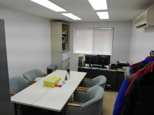 2階の現在はスタッフの休憩室です。