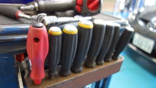 キャディと工具にこだわる社員も多いです。