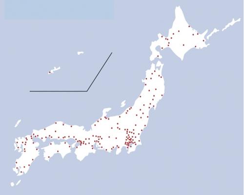 日本全国のネットワーク